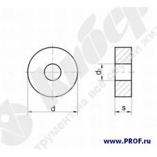 Пластина 12113-120400 (RNUA-120400), круглая, Т5К10 (H30), dвн.=5.16мм, гладкая