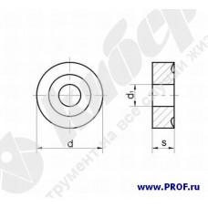 Пластина 12114-120400 (RNUM-120400), круглая, Т5К10 (H30), dвн.=5.16мм, со стружколомом