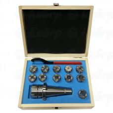 "Патрон цанговый NT50-ER32, хвостовик конус 7:24, DIN2080, с набором цанг 11шт. (4-20мм)""GRIFF"""